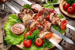 tasty and healthy food on the table, useful food products