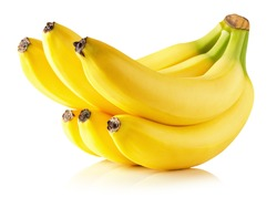 tasty bananas isolated on the white background