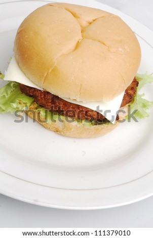 tasty burger perfect for lunch or breakfast