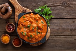 Tasty butter chicken curry dish from Indian cuisine.