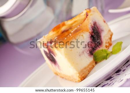tasty cheesecake - stock photo