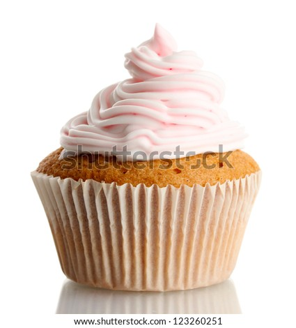 tasty cupcake, isolated on white
