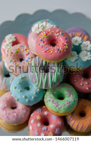 Tasty Delicious Donuts - Colorful and awesome Sweets - Commercial Photo, Cake, Dessert