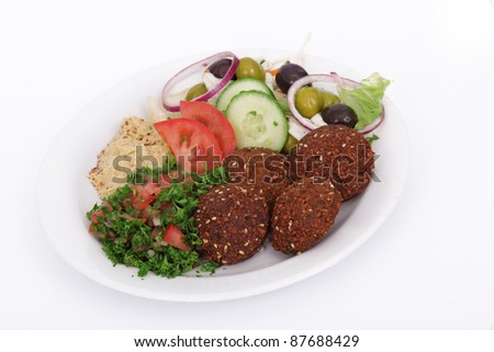 Tasty falafel meal
