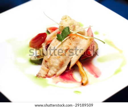 tasty fish appetizer