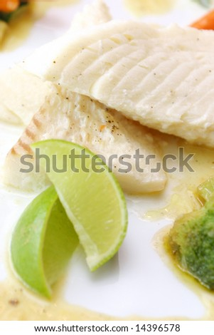 Tasty fish with lime