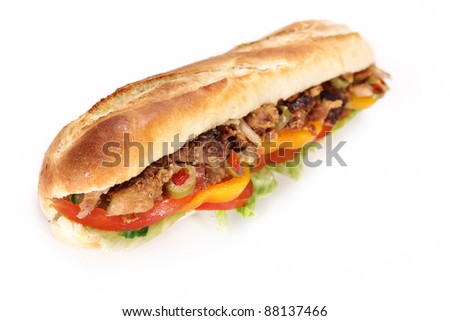 Tasty french tuna baguette