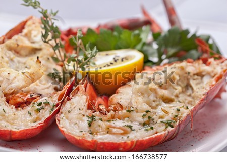 Tasty fresh appetizer on a plate