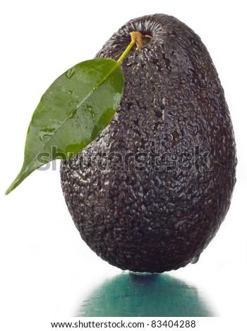 Tasty fresh avocado or alligator a pear.