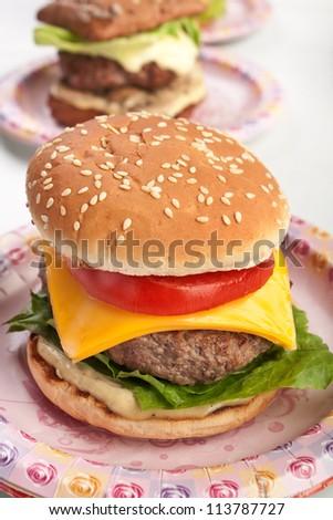 Tasty fresh cheeseburger