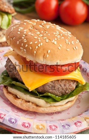 Tasty fresh cheeseburger