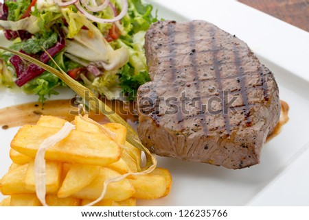 tasty grilled steak
