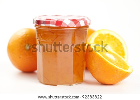 tasty home made marmelade isolated over white