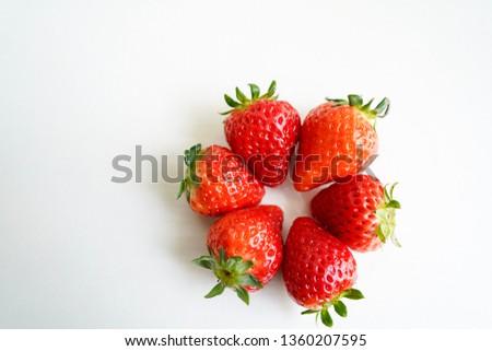 Tasty juicy strawberries #1360207595