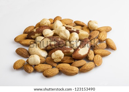 tasty nuts isolated on white