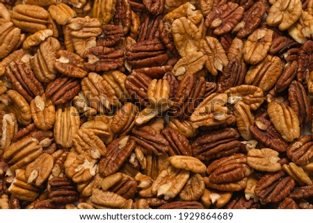 Tasty pecan-nut background. Top view.  Zdjęcia stock ©