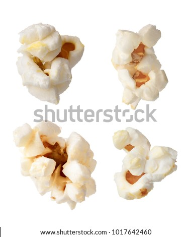 Tasty popcorn on white background #1017642460