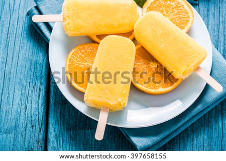 tasty refreshing summer treat, popsicle with natural juice