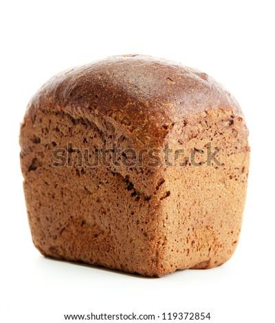 tasty rye bread, isolated on white
