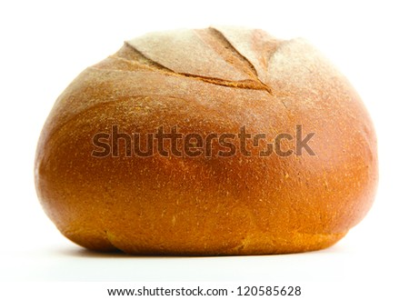tasty rye bread, isolated on white