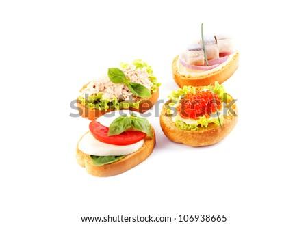 Tasty sandwiches - stock photo