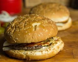 Tasty self made Hamburger