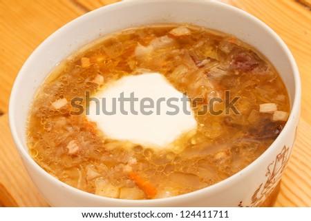 tasty soup - stock photo