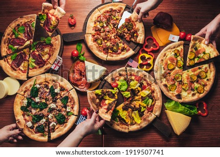tasty traditional italian pizza and ingredients