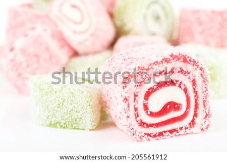 Tasty Turkish delight close up Stockfoto ©