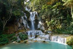 Tat Kuangsi waterfall (Tat Kuang Si), Luang Prabang, Laos