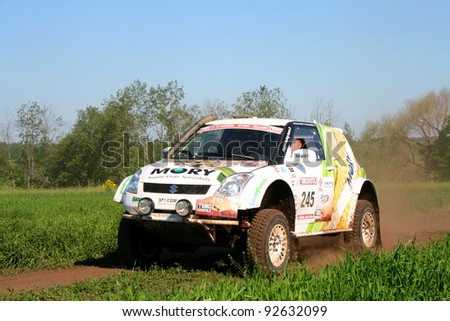 TATARSTAN, RUSSIA - JUNE 15: Stephane Pinard's KAP Outlaw (Suzuki Swift) No. 245 competes at the rally Transorientale 2008 on June 15, 2008 near town of Naberezhnye Chelny, Tatarstan, Russia.