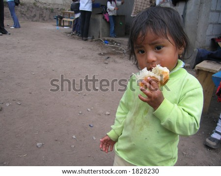 Tatiana, an impoverished Ecuadorian two year old
