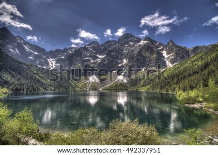 Tatra mountains,Morskie o ko  Zdjęcia stock ©