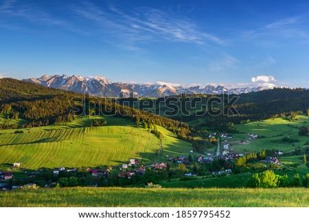 Tatra mountains view grom Grandeus hill Zdjęcia stock ©