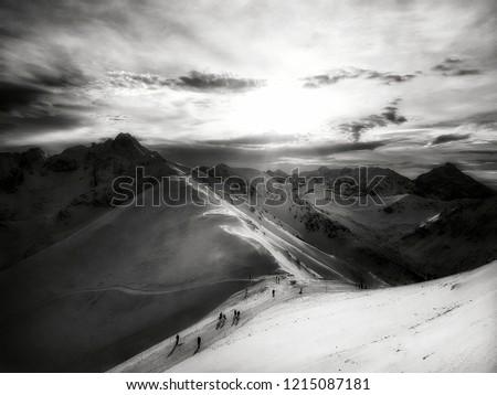 Tatry Mountains - Kasprowy Wierch ( Black and White ) Zdjęcia stock ©