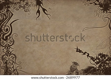 stock photo : Tattoo Border Style Background