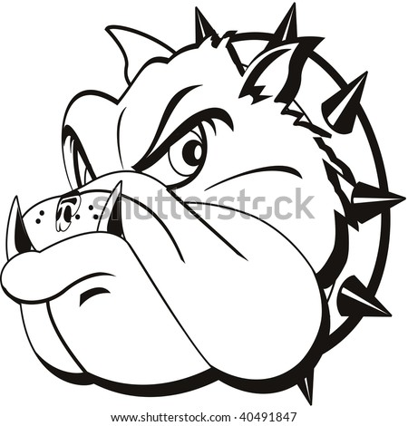 stock photo : tattoo Bulldog head