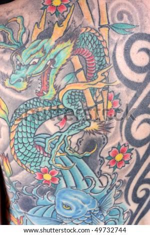 Stock Photo Tattoo Girl in Studio