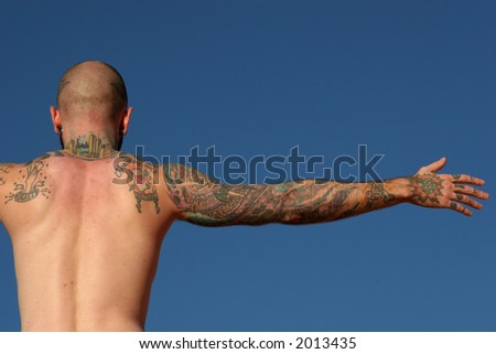 stock photo : Tattoo man