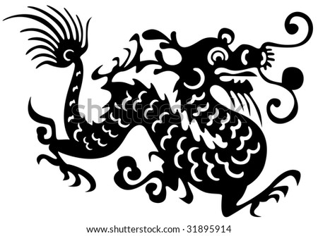 tattoo outlines. stock photo : Tattoo of dragon