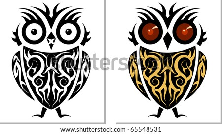 stock photo : Tattoo Owl