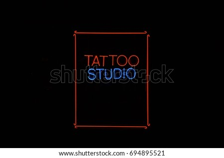 Tattoo Parlor Sign #694895521