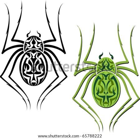 stock photo : Tattoo Spider