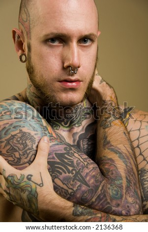Tattooed male