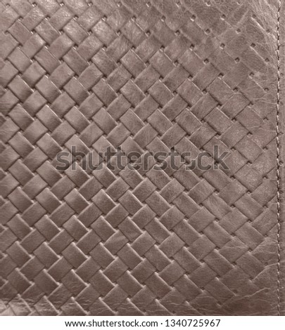 Taupe embossed leather texture, weaving pattern #1340725967