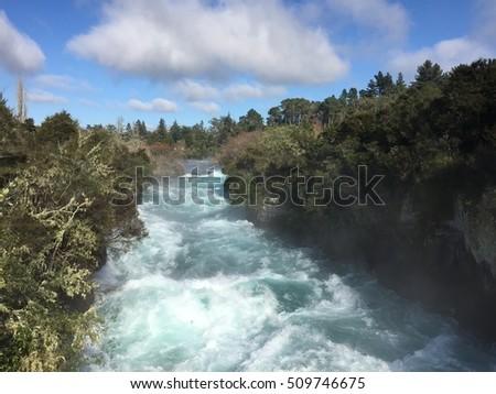 Taupo Huka Fall  #509746675