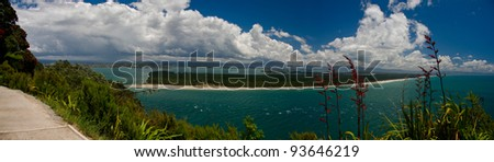 Tauranga, New Zealand. View from Maunganui Mountain.