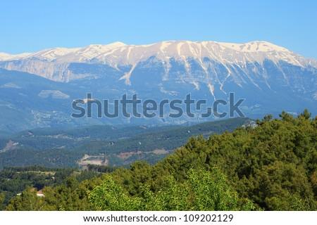 Taurus Mountains near town Kumluca, Turkey