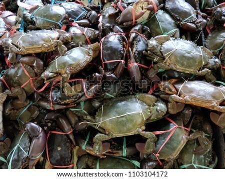 Tawau, Sabah - June 01, 2018 : Crab nipah is a famous food in Tawau, Sabah #1103104172