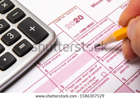 Tax Form 1099-misc on a white background. Stock foto ©